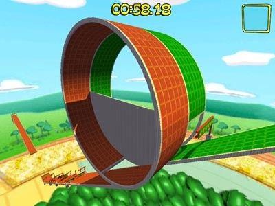 En Marble Blast Ultra también harás loopings como este