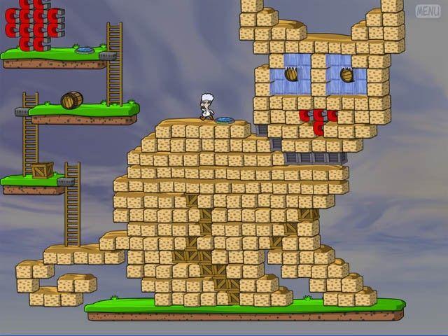 Professor Fizzwizzle, un nivel con forma de gato