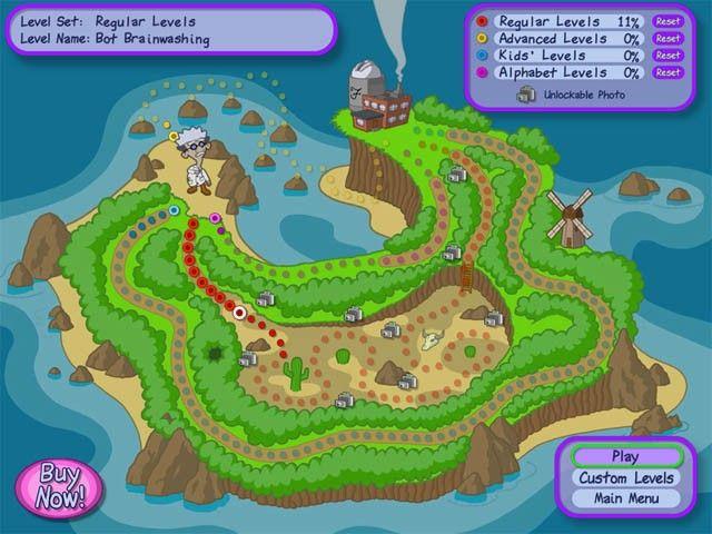 Professor Fizzwizzle, el mapa del juego