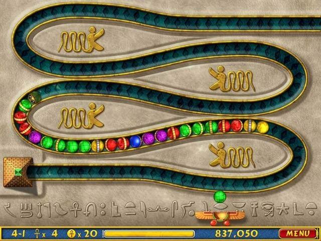 Luxor, Atlantis y otros juegos de bolitas