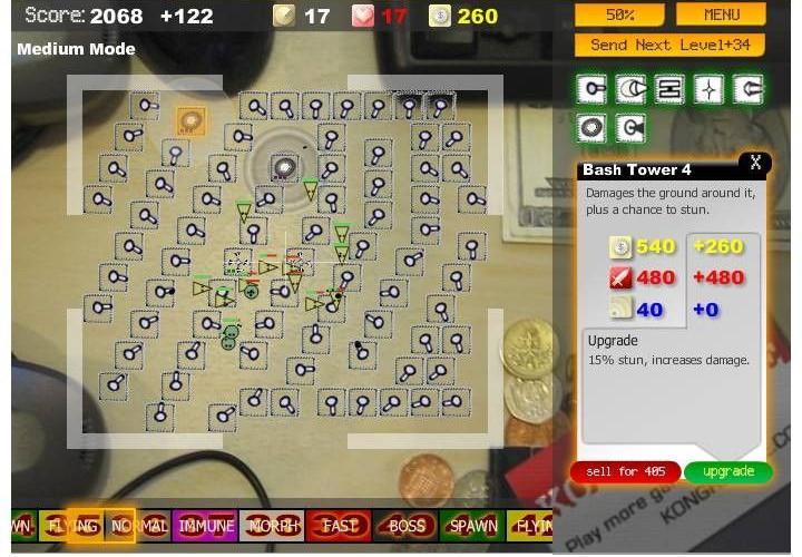 Desktop Tower Defense, juega gratis a uno de los juegos Flash más populares